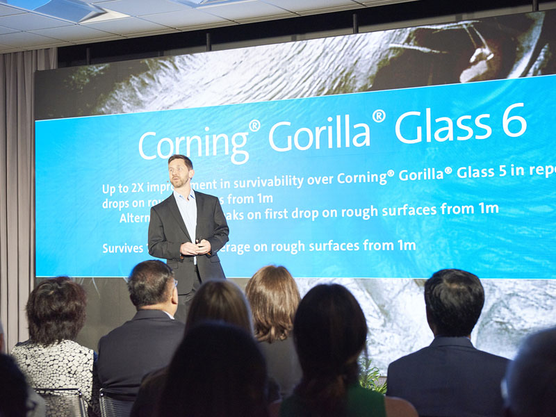 mobile phone improved Gorilla Glass